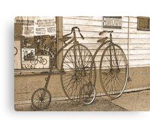 High-Wheel Bicycles Canvas Print