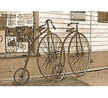 High-Wheel Bicycles Photographic Print