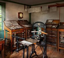 Graphic Artist - The print office - 1750  by Mike  Savad