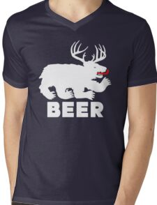 BEER = Bear + Deer Mens V-Neck T-Shirt