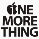One More Thing by Alisdair Binning