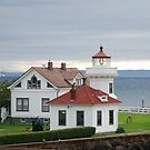 Mukilteo Lighthouse and Cottage by Marjorie Wallace