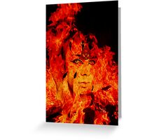 Fire Warlock Greeting Card