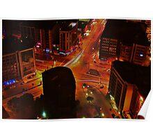 City Night Scene Poster