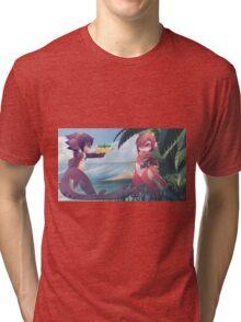 RU and Mako beach fun Tri-blend T-Shirt