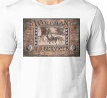 Wolfman K-9 Services Old Poster Unisex T-Shirt
