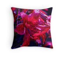 Psycho Lilies Throw Pillow
