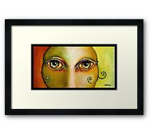 Bolly Eyes Framed Print