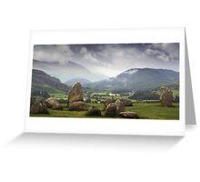 Keswick Stone Circle, Lake District, Cumbria Greeting Card