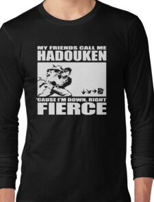 Street Fighter - Down, Right, Fierce Long Sleeve T-Shirt