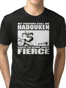 Street Fighter - Down, Right, Fierce Tri-blend T-Shirt