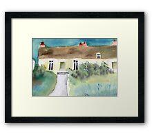 the Green's cottage Framed Print
