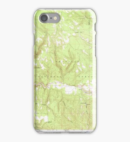 USGS Topo Map Oregon Lehman Springs 280501 1967 24000 iPhone Case/Skin