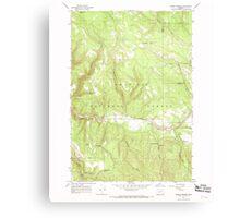 USGS Topo Map Oregon Lehman Springs 280501 1967 24000 Canvas Print
