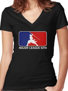Major League Sith Women's Fitted V-Neck T-Shirt