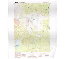 USGS Topo Map Oregon Broken Top 279146 1988 24000 Poster