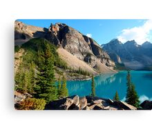 moraine lake  in canada Canvas Print