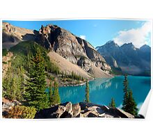 moraine lake  in canada Poster