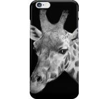 Giraffe, Black And White iPhone Case/Skin