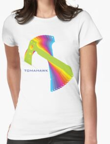 Flying tomahawk Womens Fitted T-Shirt