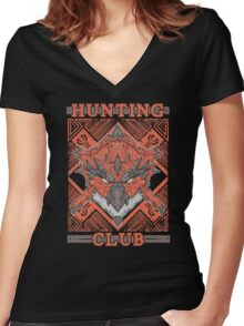 Hunting Club: Rathalos Women's Fitted V-Neck T-Shirt
