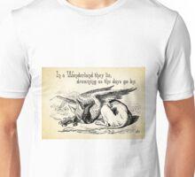 Alice in Wonderland Quote - In Wonderland they Lie - Griffon Quote - 0156 Unisex T-Shirt