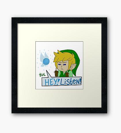 Hey! Listen! Framed Print