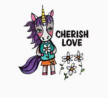 Cherish Love: Unicorn Drawing Watercolor Illustration  Womens Fitted T-Shirt