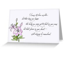 Miscarriage and Time Greeting Card