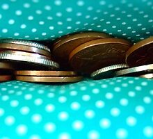 Coins in a polka dot purse by SunshineSong