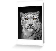 Endangered Snow Leopard Greeting Card