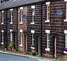 Cottages of blackened stone by inkedsandra
