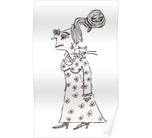 Spinster Agnus And The Sleeping Cats Poster