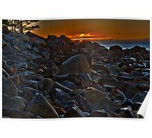 White Point Rocks (HDR) Poster