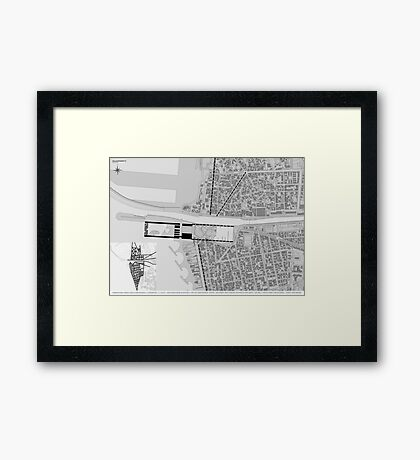 a vision of the city Framed Print