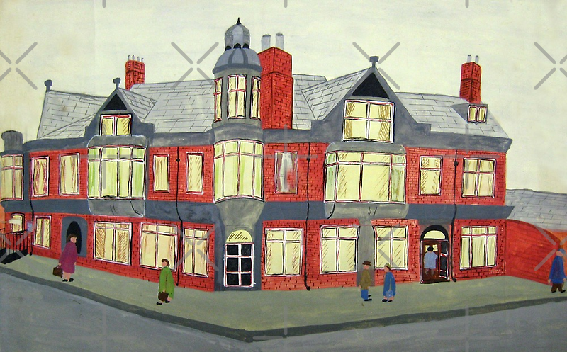 012 - NORTH SEATON HOTEL, ASHINGTON - DAVE EDWARDS - POSTER PAINTS - 1967  by BLYTHART