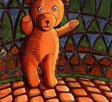 242 - TEDDY BEAR- DAVE EDWARDS - INK & WATERCOLOUR - 2008 by BLYTHART