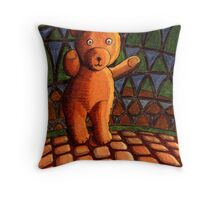 242 - TEDDY BEAR- DAVE EDWARDS - INK & WATERCOLOUR - 2008 Throw Pillow
