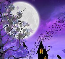 Happy Halloween Card ~ Halloween Night on Eartheeria by Sam Stormborn Ormandy