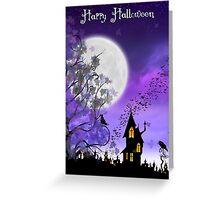 Happy Halloween Card ~ Halloween Night on Eartheeria Greeting Card