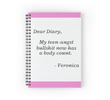 Heathers Dear Diary Movie Quote Spiral Notebook