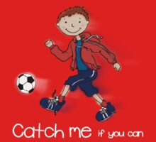 Catch me if you can boys football T Kids Clothes