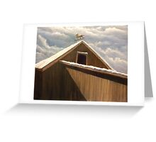 Snow Covered Barn (original painting solld) Greeting Card