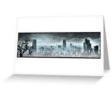 Nuclear winter. Apocalypse Greeting Card