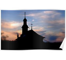 Fribourg at Sunset Poster