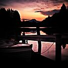 Loch Ard, Spring Sunset. by Aj Finan