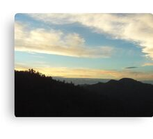 Layer Of Clouds Over The Mountain Canvas Print