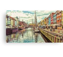 Nyhavn, Copenhagen, Denmark Canvas Print