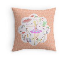 Ballerina's world Throw Pillow