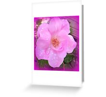 Textured Rose With Raindrops Greeting Card